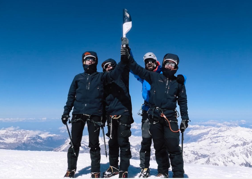 Minsk 2019 Flame reaches Mont Blanc summit despite testing weather conditions