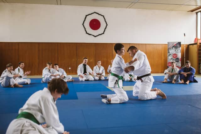 Olympic gold medallist Ishii leads judo class for disabled children in Zagreb