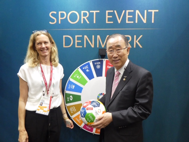 Sport Event Denmark receive ideas on how sport can contribute to UN Global Goals for Sustainable Development