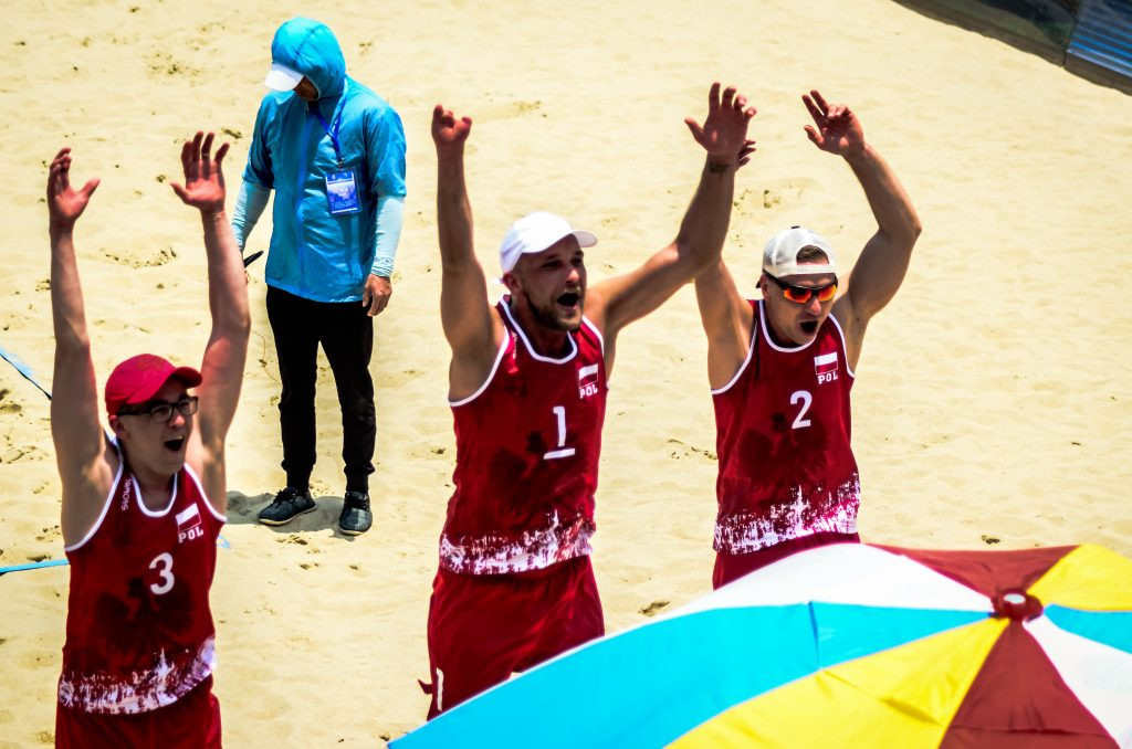 Poland 1 are through to the gold medal match at the inaugural 2019 Beach ParaVolley World Series Pingtan Open in the inaugural 2019 Beach ParaVolley World Series Pingtan Openin the inaugural 2019 Beach ParaVolley World Series Pingtan Open ©World ParaVolle