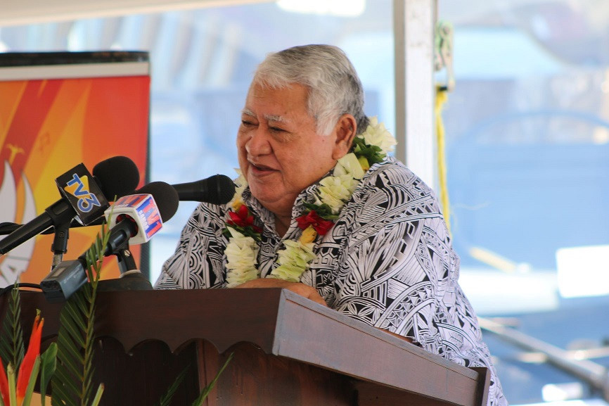 Prime Minister of Samoa, Tuilaepa Aiono Sailele Malielegaoi, addressed the issue of transgender athletes in his speech ©Games News Service
