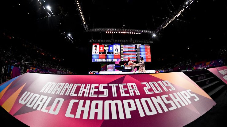 Sim begins pursuit of retaining title by reaching final at 2019 World Taekwondo Championships