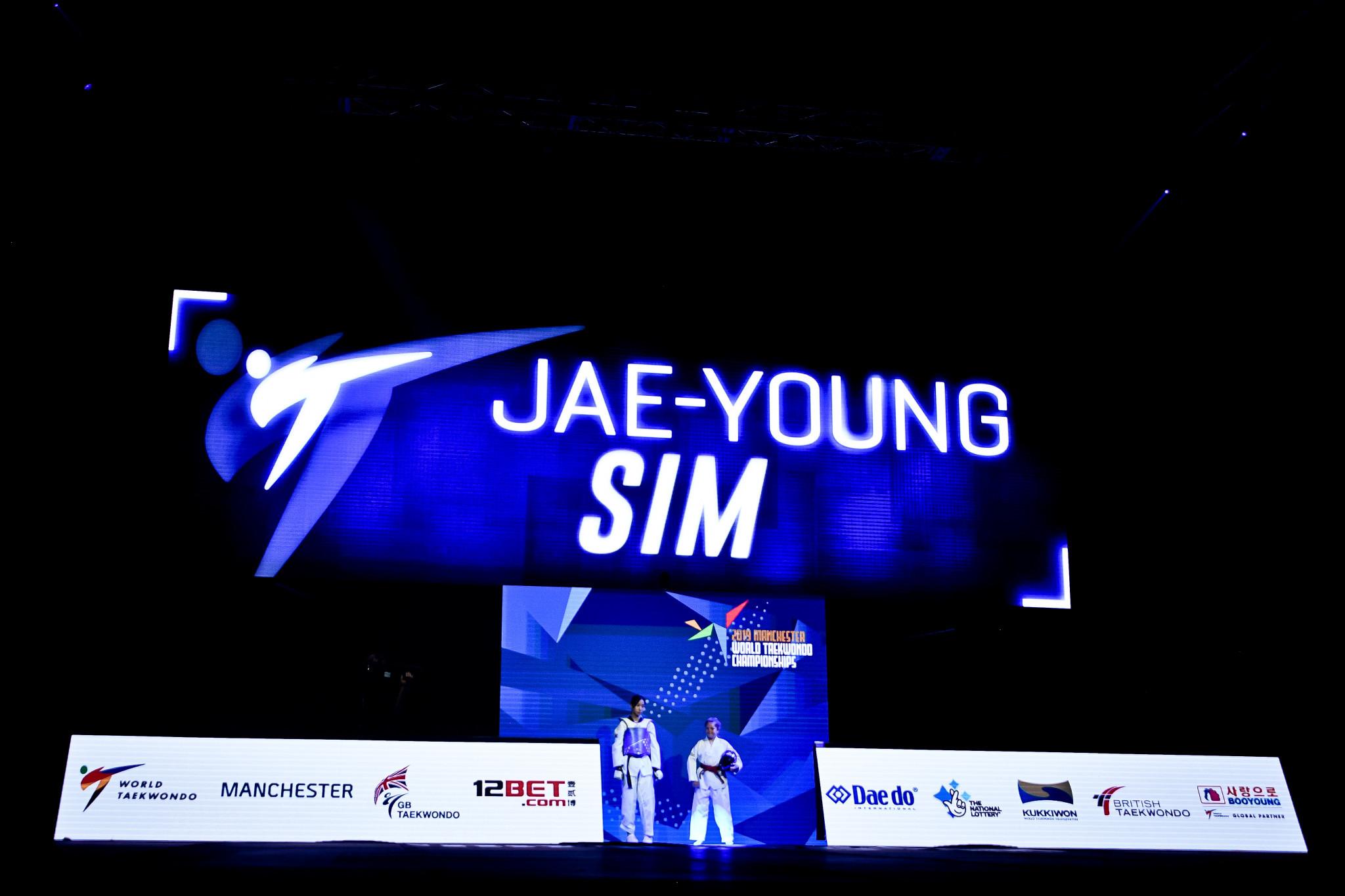 Sim retains title as South Korea claim three gold medals at World Taekwondo Championships