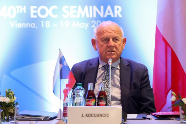"""EOC President Kocijančič aiming for European Games flag to go """"from hand to hand"""" between Minsk and 2023 hosts"""