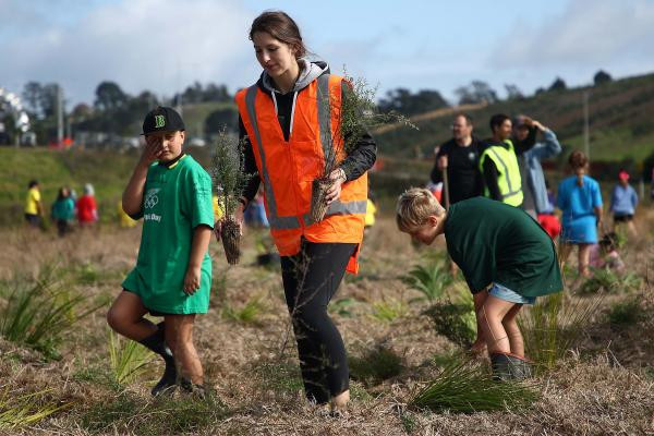The athletes were named at a tree-planting ceremony held by the New Zealand Olympic Committee ©NZOC