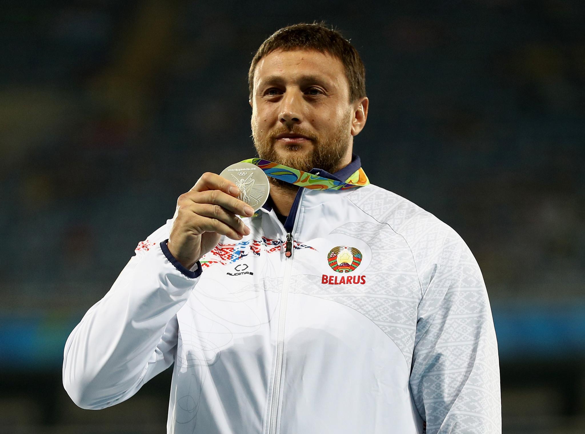Drugs cheat Tsikhan carries European Games Flame