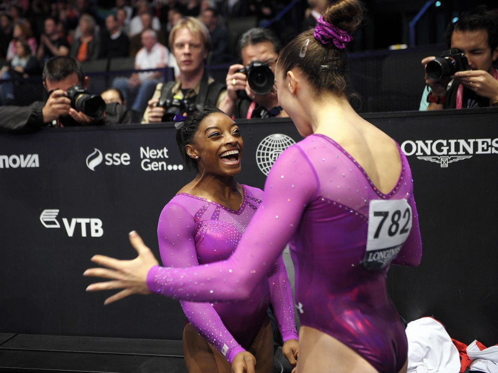Simone Biles and Maggie Nichols have both given accounts of the abuse they suffered within the USA Gymnastics setup ©Getty Images