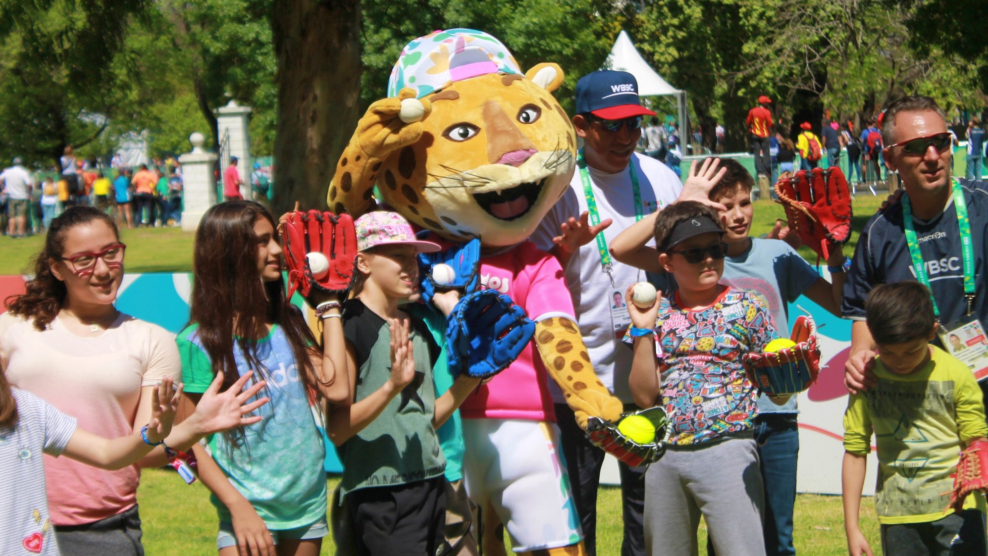 Baseball5 featured in the sports initiation zone at the Buenos Aires 2018 Summer Youth Olympic Games ©WBSC