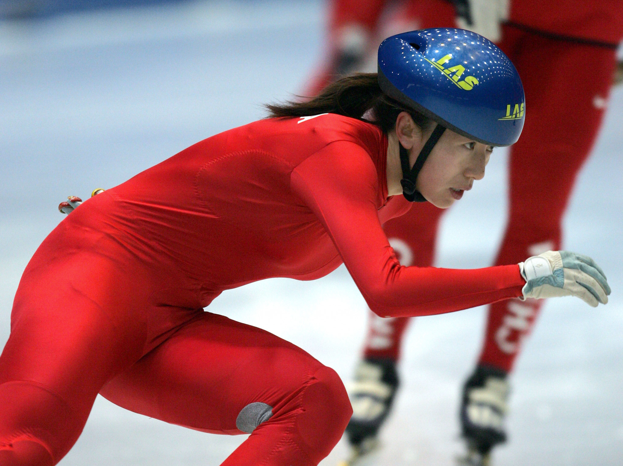 Double Olympic gold medal-winning short track speed skater Yang Yang was among those who took part in the flash mob ©Getty Images