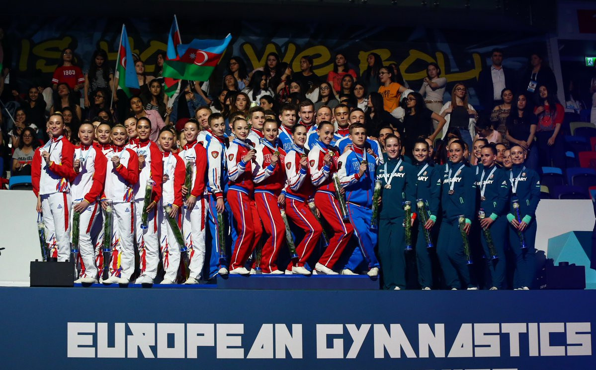 Russia win team gold after qualifying round of Aerobic Gymnastics European Championships