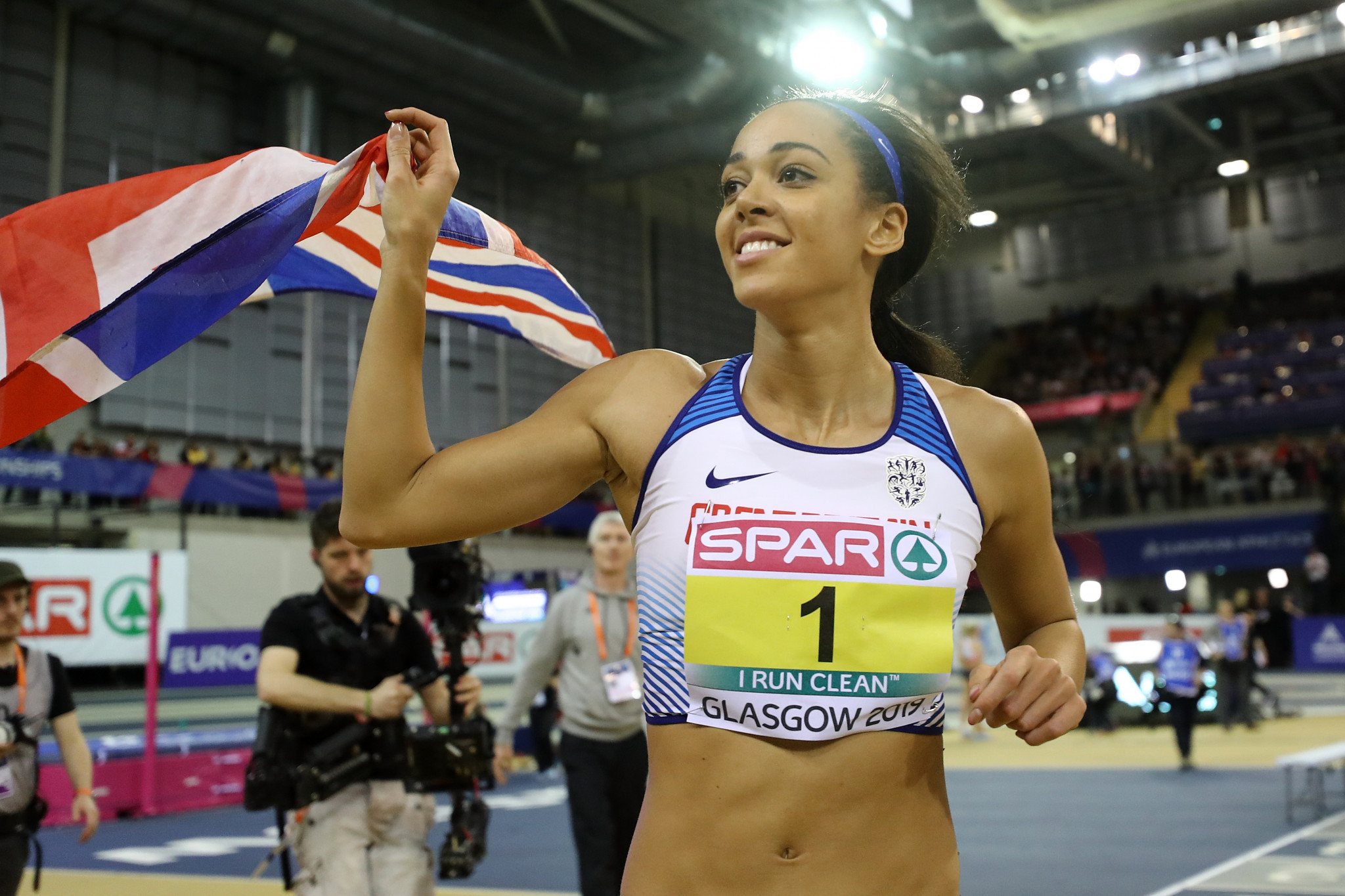 Britain's Katarina Johnson-Thompson set a world lead in the heptathlon event ©Getty Images