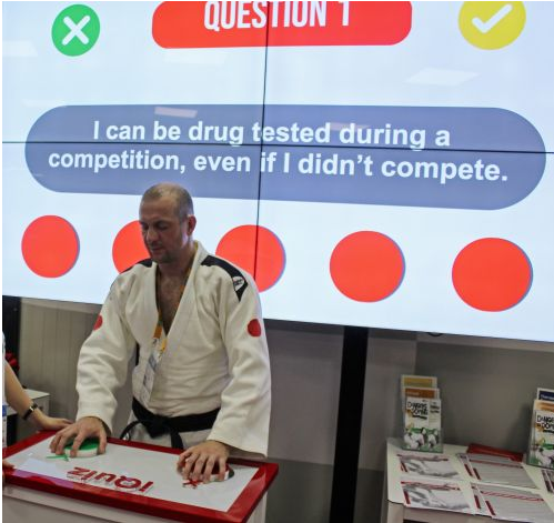 Quiz teaches visually-impaired judoka about anti-doping