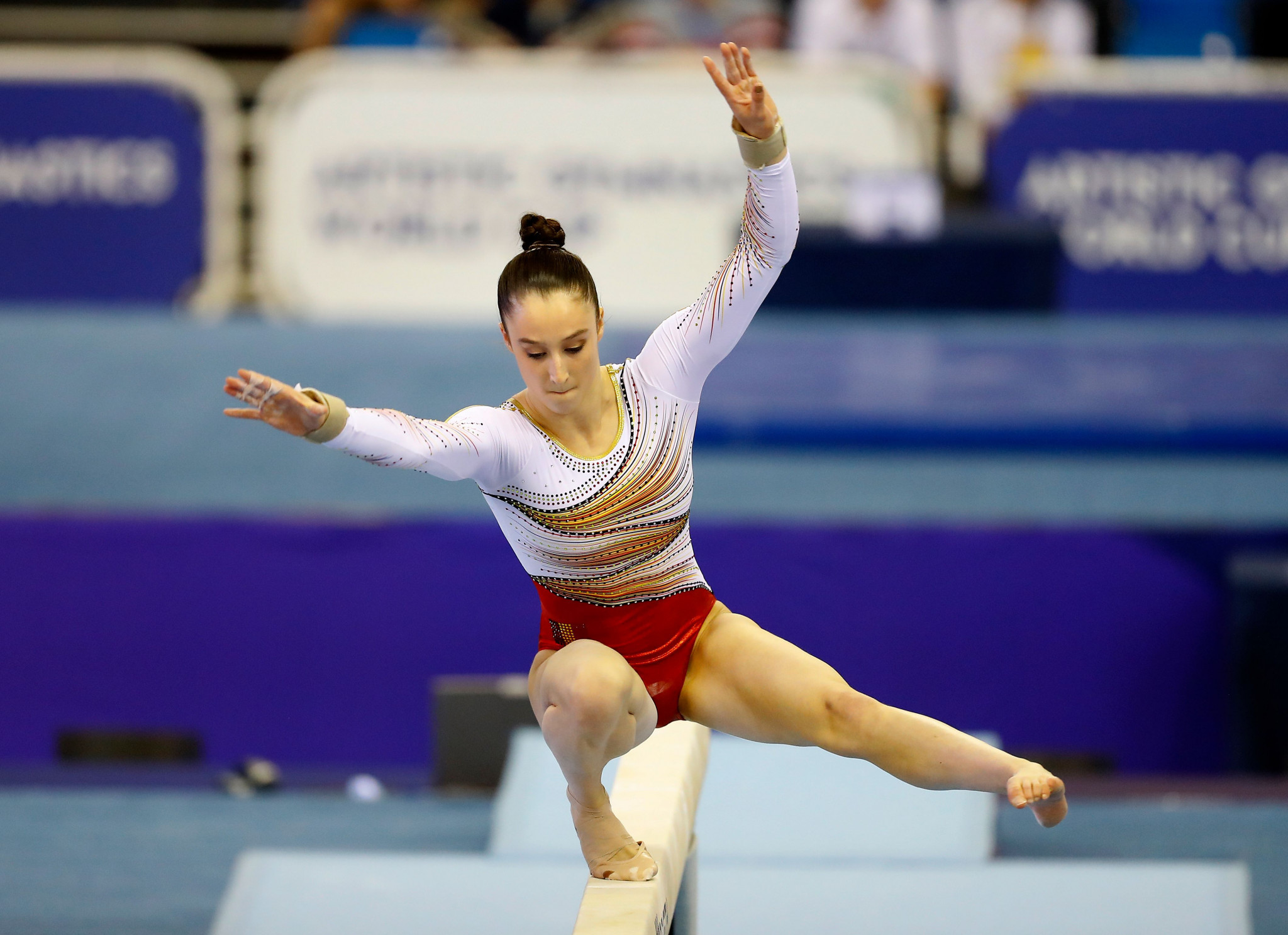 World champion and two-times European artistic gymnastics champion Nina Derwael is competing for Belgium at the Minsk 2019 European Games ©Getty Images