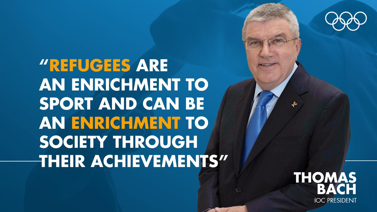 IOC President Thomas Bach claimed the team will send a signal of hope to all the refugees around the world ©IOC