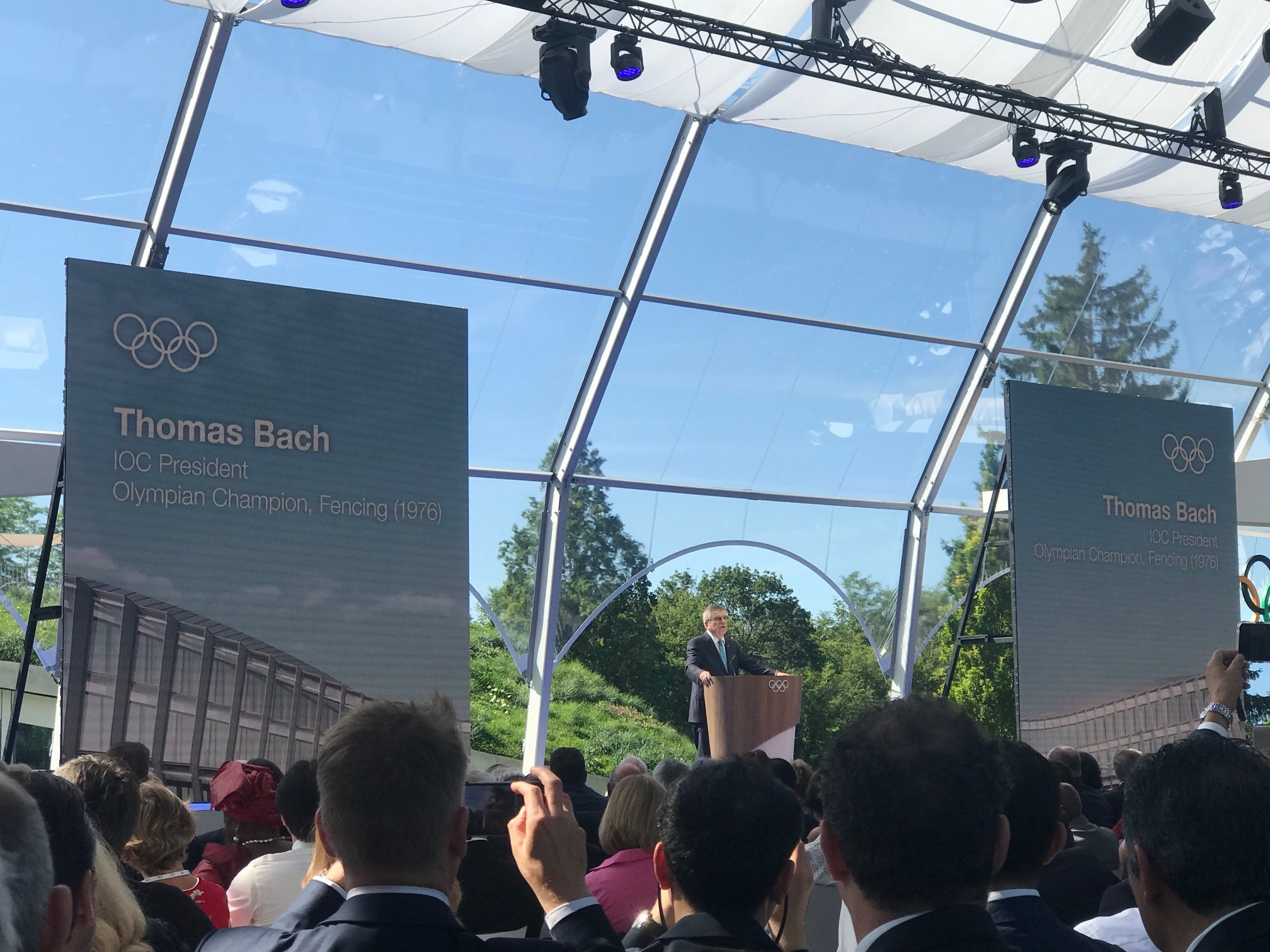 IOC President Thomas Bach inaugurated Olympic House at a ceremony in Lausanne ©ITG