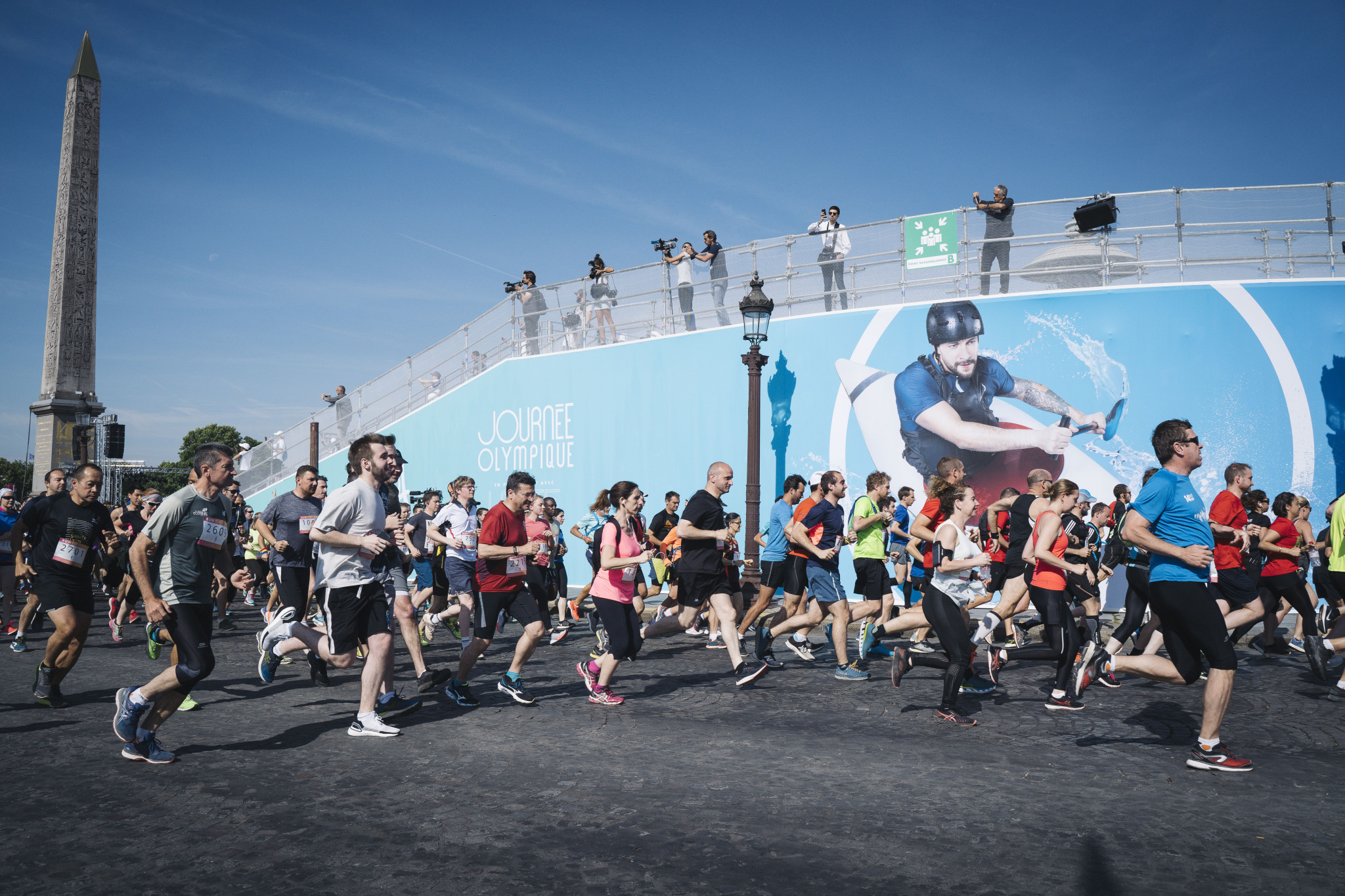 First participants in Paris 2024 Olympics mass-participation marathon seal places at Olympic Day run
