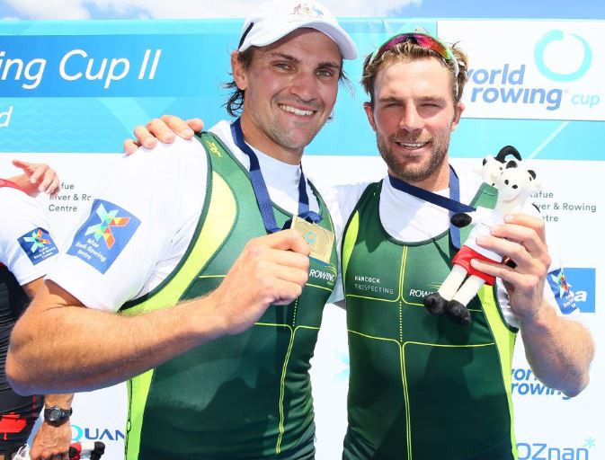 Australia topped both the medal and points table to win their first World Rowing Cup of the season in Poznań ©Twitter