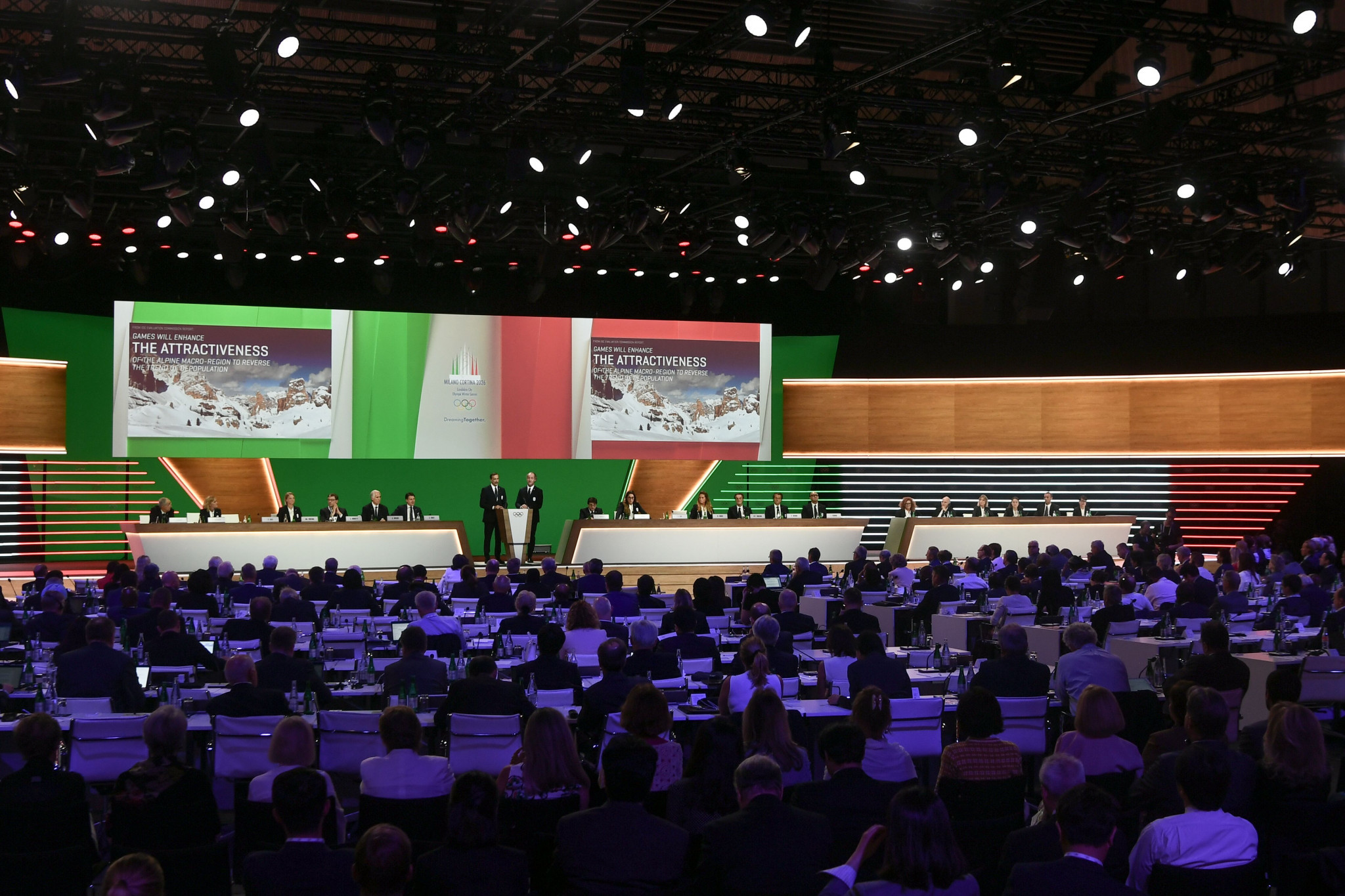 IOC Session: Milan Cortina awarded 2026 Winter Olympic and Paralympic Games ahead of Stockholm Åre