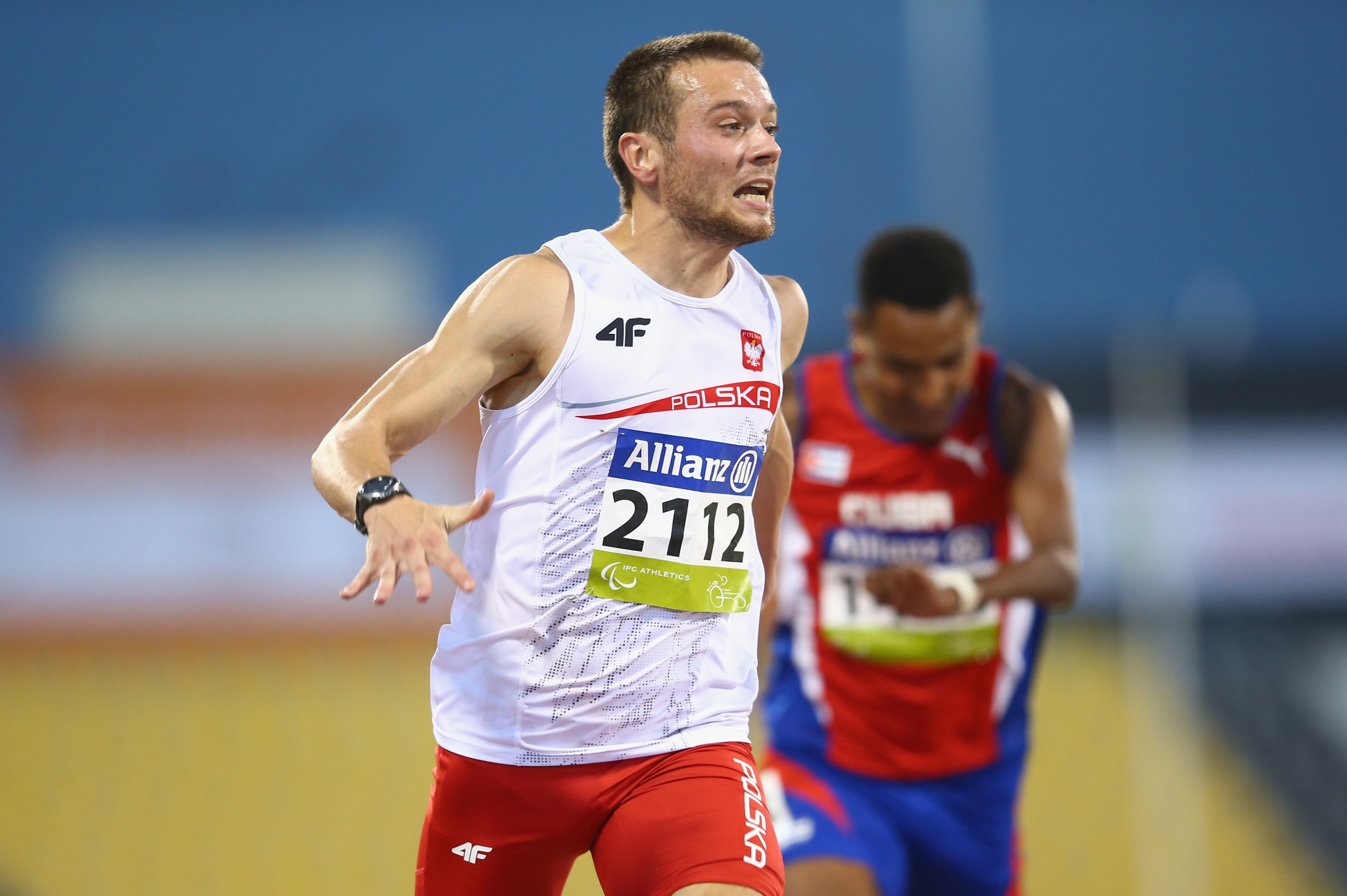 Sprinter Michał Derus was among Poland's star performers when the country topped the medal table at the 2018 World Para Athletics European Championships in Berlin ©Getty Images