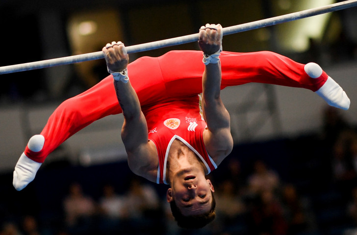 Russia's David Belyavskiy won the men's all-around gold medal at the artistic gymnastics at Minsk 2019 today ©Getty Images