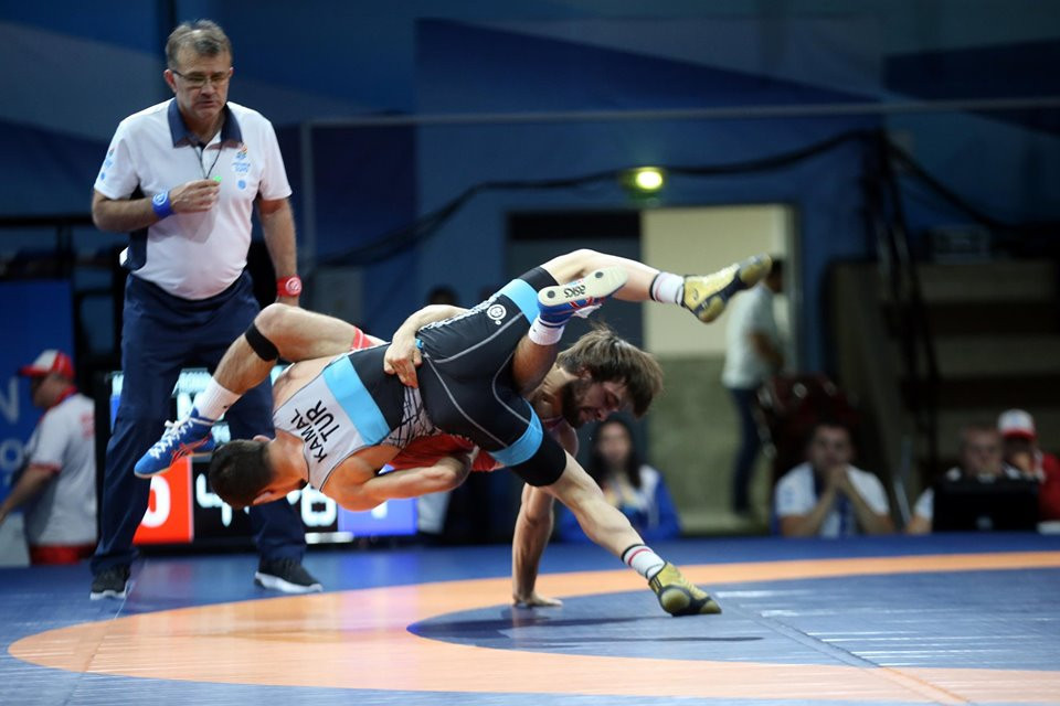 Wrestling at the European Games continued with the Greco-Roman divisions ©Minsk 2019