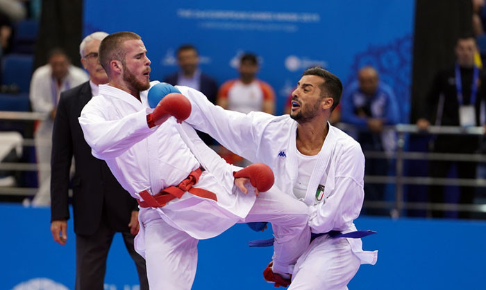 Italy's Maresca earns dramatic win as Ukraine take two golds in karate finale at Minsk 2019