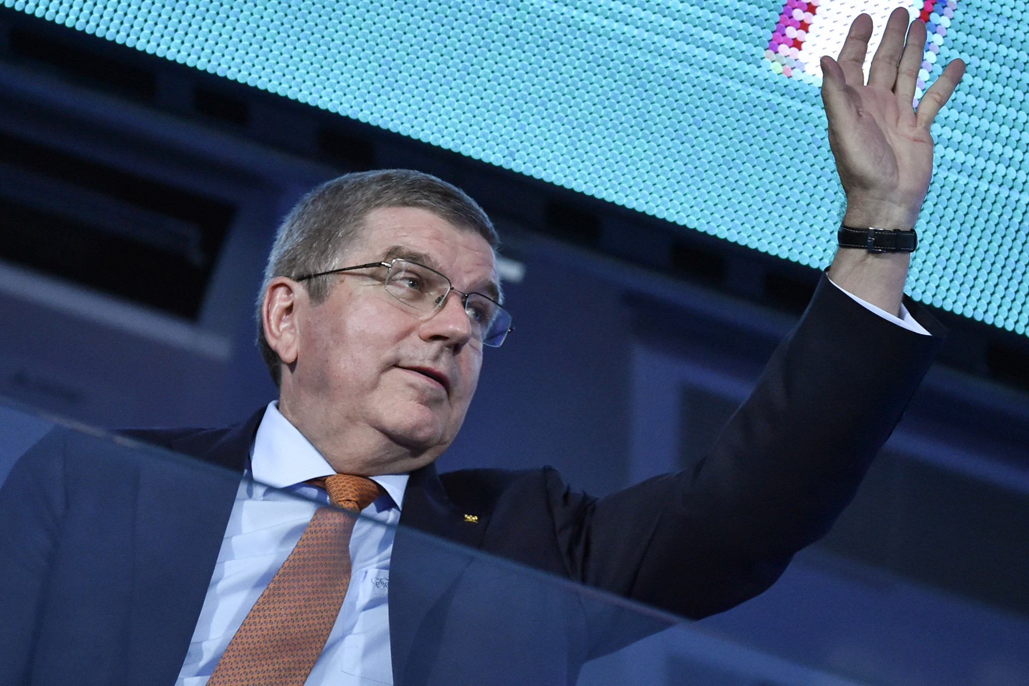 Thomas Bach and Vladimir Putin attend Closing Ceremony of European Games in Minsk