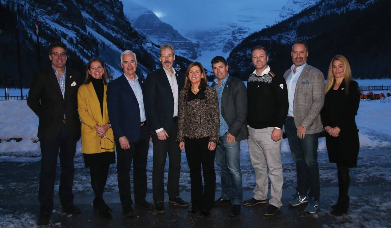 Alpine Canada President and chief executive Vania Grandi, centre, says it is an exciting time for the national governing body as it prepares to celebrate its centenary ©Alpine Canada/Malcolm Carmichael
