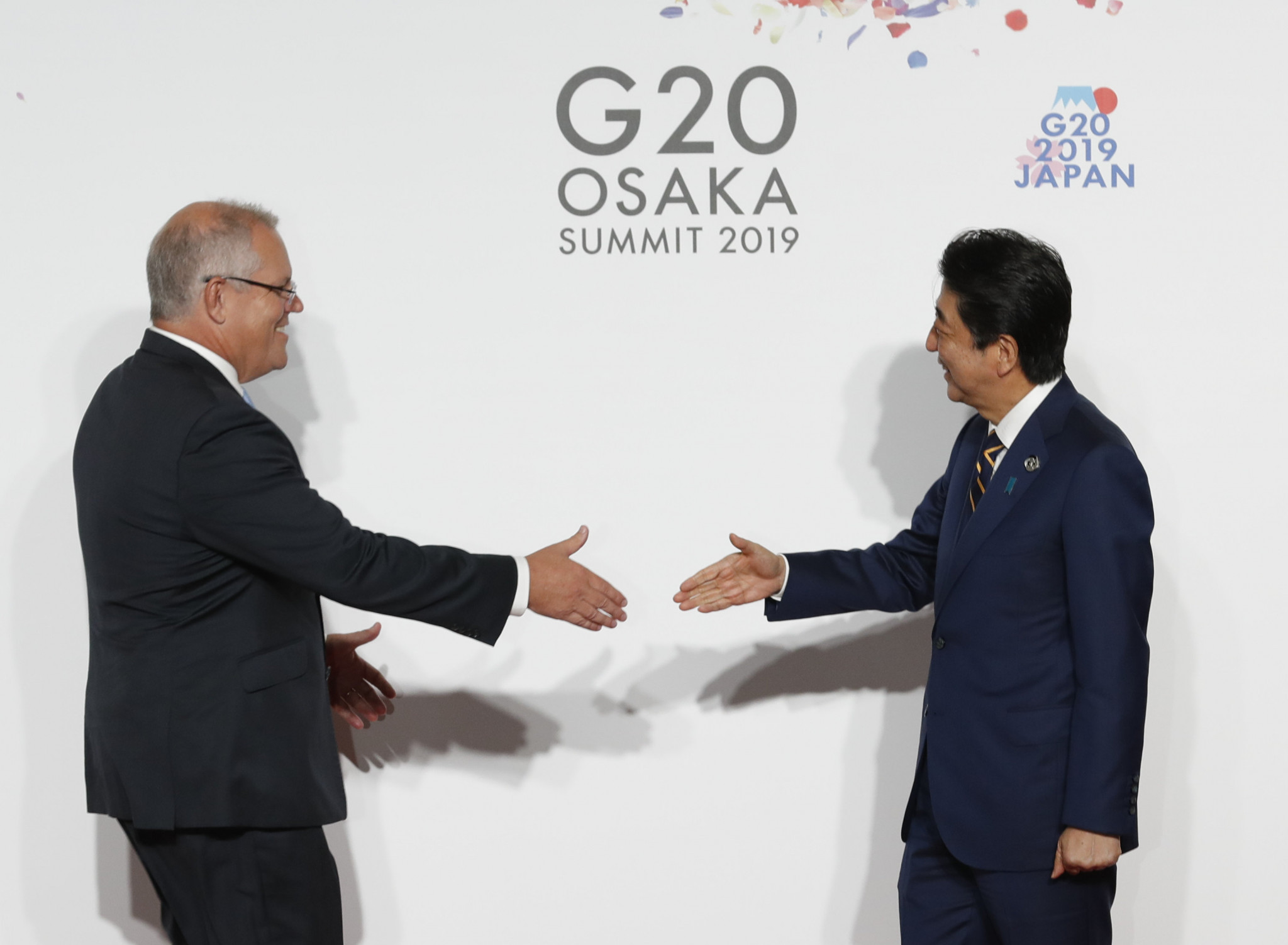Australia's Prime Minister Scott Morrison, left, confirmed his backing for an Olympic bid from South Queensland in 2032 after attending the G20 Summit in Osaka, where he met IOC President Thomas Bach ©Getty Images
