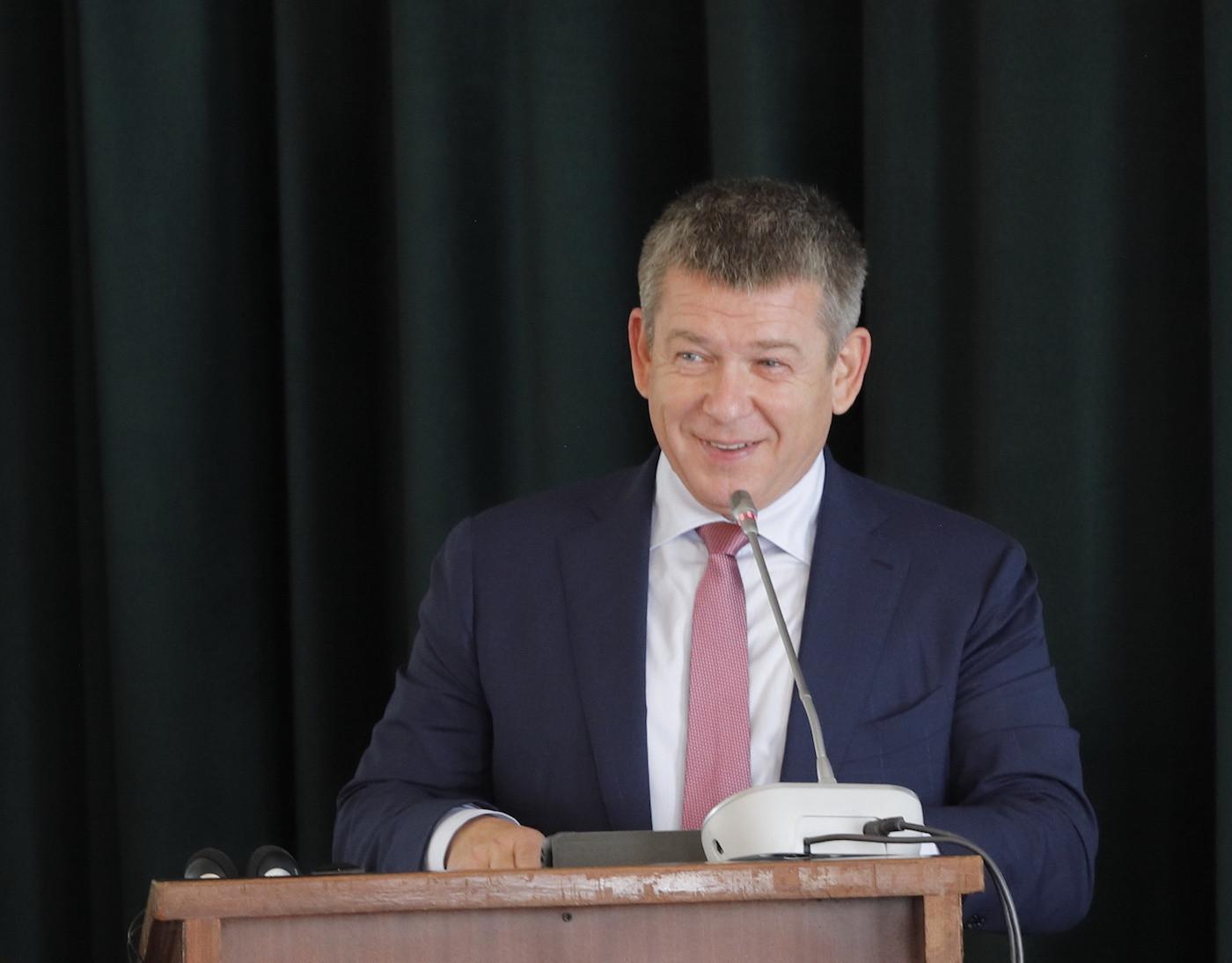 Alexander Chernov, director general of the Yekaterinburg bid, ran through their plans for the 2023 Summer Universiade ©FISU