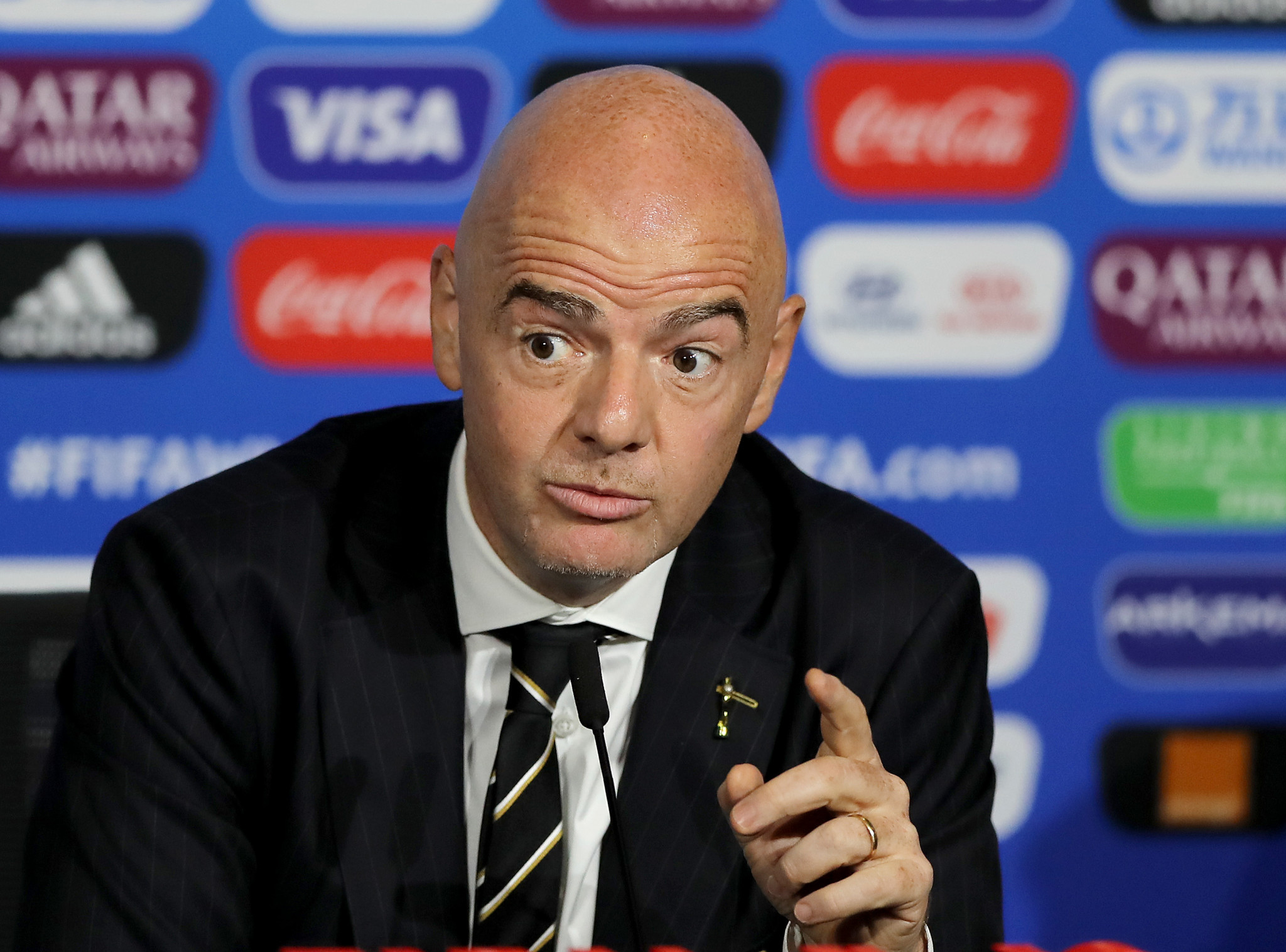 FIFA President Gianni Infantino wants to expand the number of teams at the Women's World Cup ©Getty Images