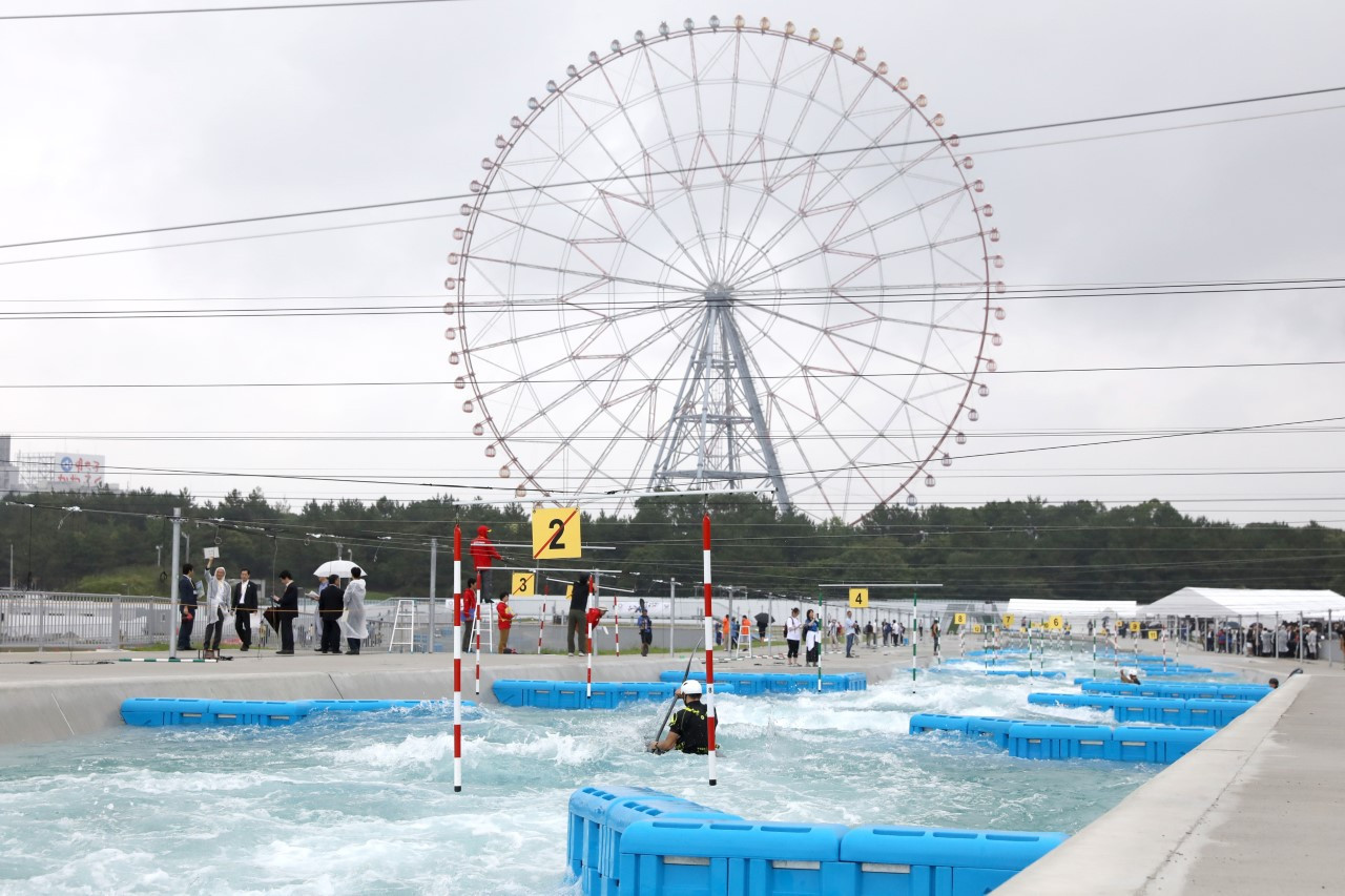 The Kasai Canoe Slalom Centre which will be used at next year's Tokyo 2020 Olympics has been officially inaugurated ©Tokyo 2020