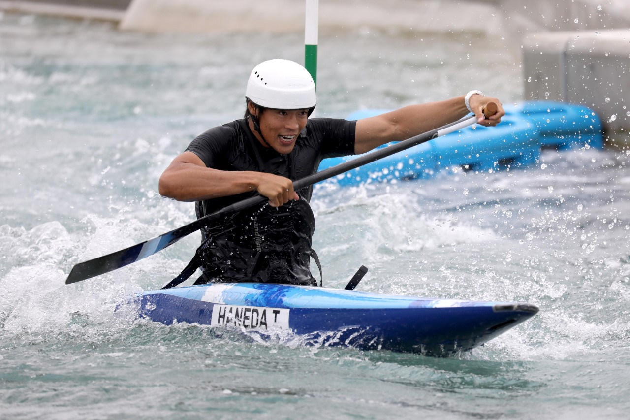 Japan's Rio 2016 bronze medallist Takuya Haneda tried out the new course ©Tokyo 2020