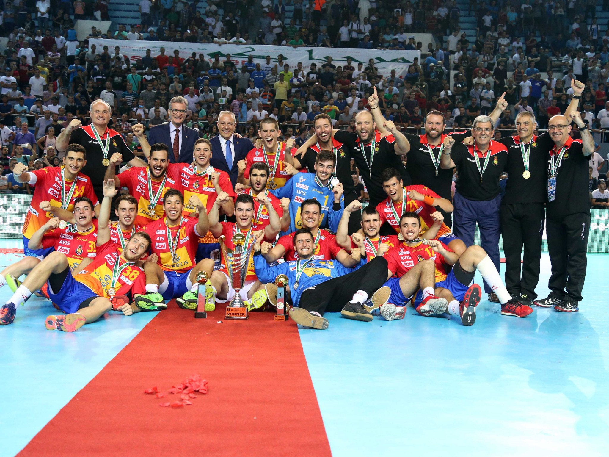 Spain are bidding to defend their Men's Junior World Handball Championship title on home soil ©Spain 2019