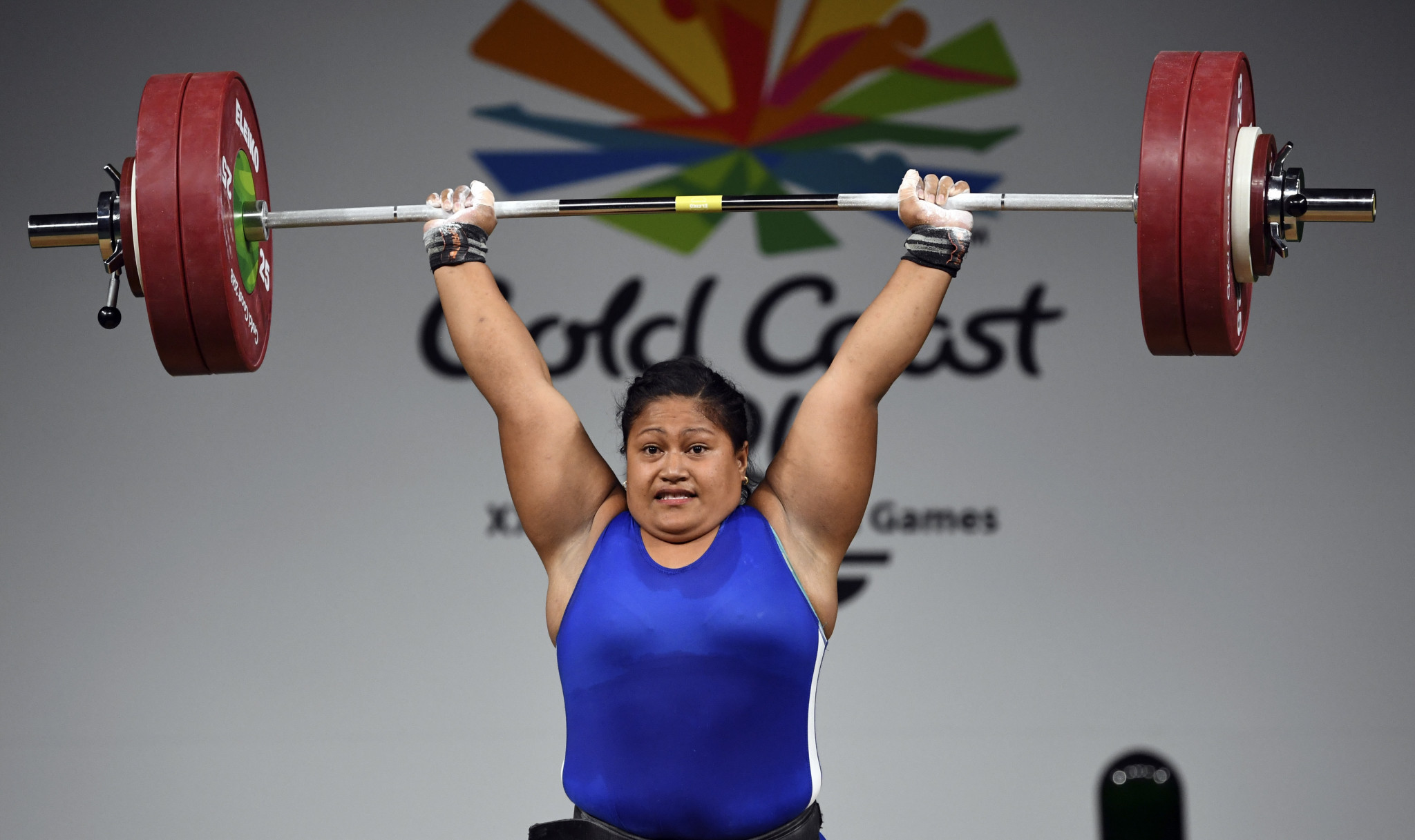 Commonwealth Games champion Feagaiga Stowers finished as the runner-up to Laurel Hubbard ©Getty Images