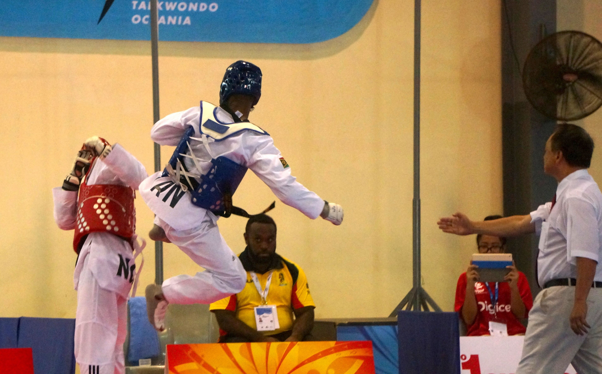 The first day of the Pacific Games taekwondo competition took place at the Harvest Centre on Tuesday ©Games News Service