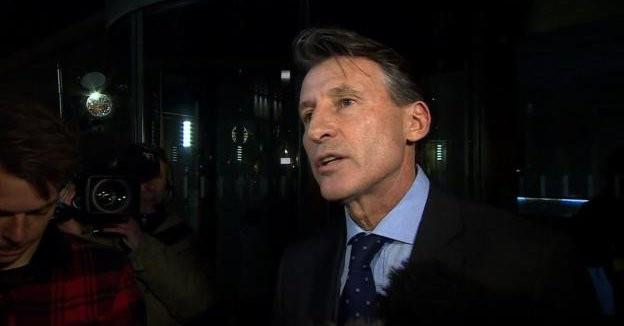 IAAF President Sebastian Coe announced the decision to suspend Russia