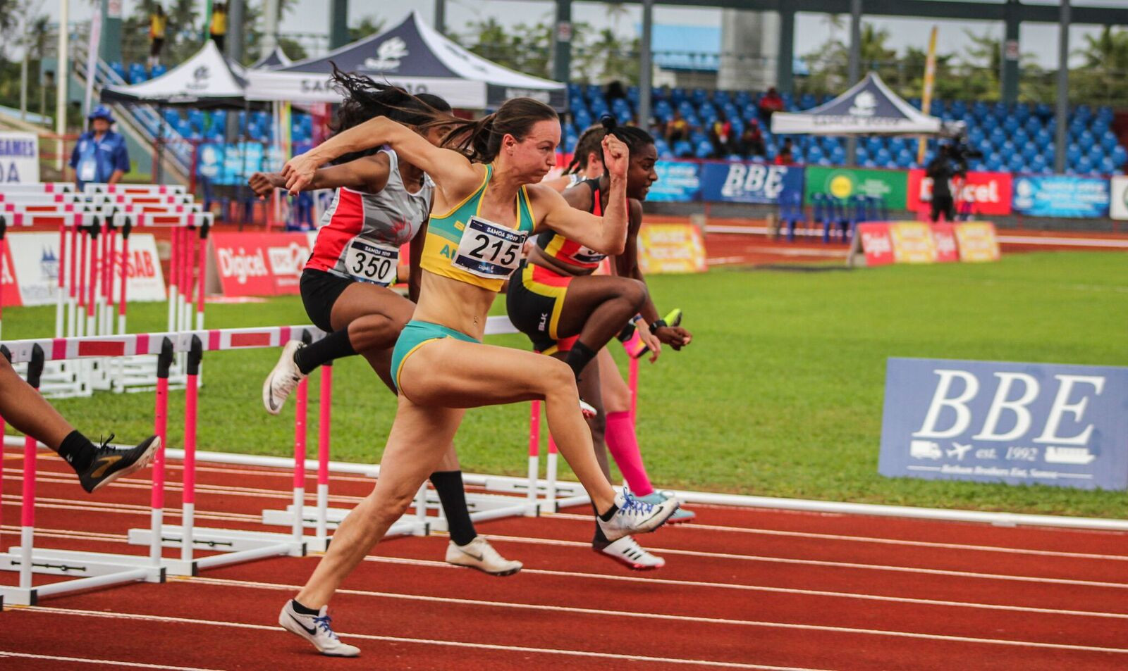 A Pacific Games record was set in the women's 100m hurdles as Australia's Brianna Beahan won gold in 13.17 ©Samoa 2019