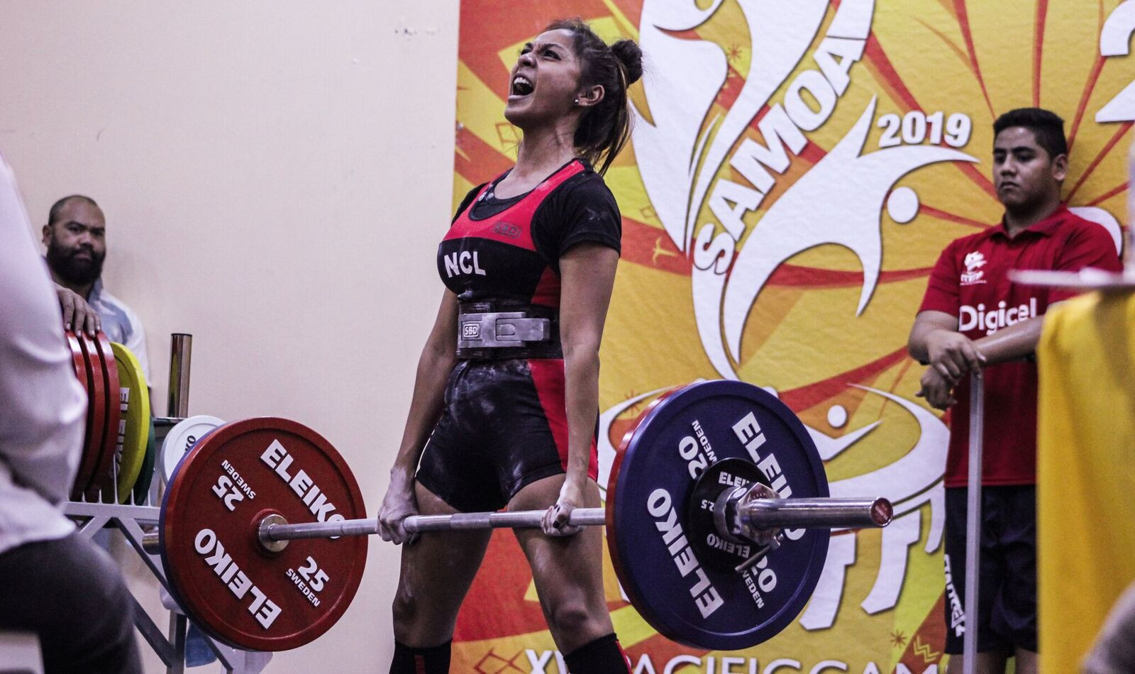 Competition began in Pacific Games powerlifting on Thursday ©Samoa 2019
