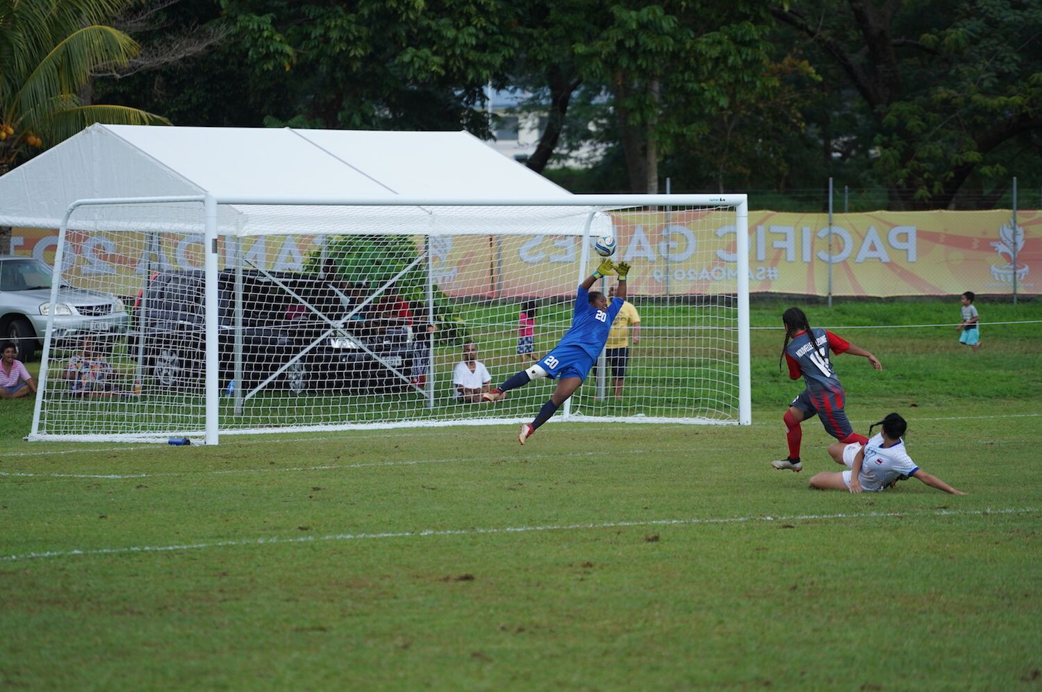 The final group stage games of the football saw plenty of important goals scored ©Samoa 2019