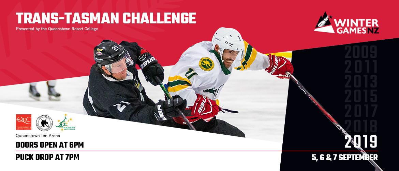 Trans-Tasman Challenge ice hockey series included on Winter Games NZ programme