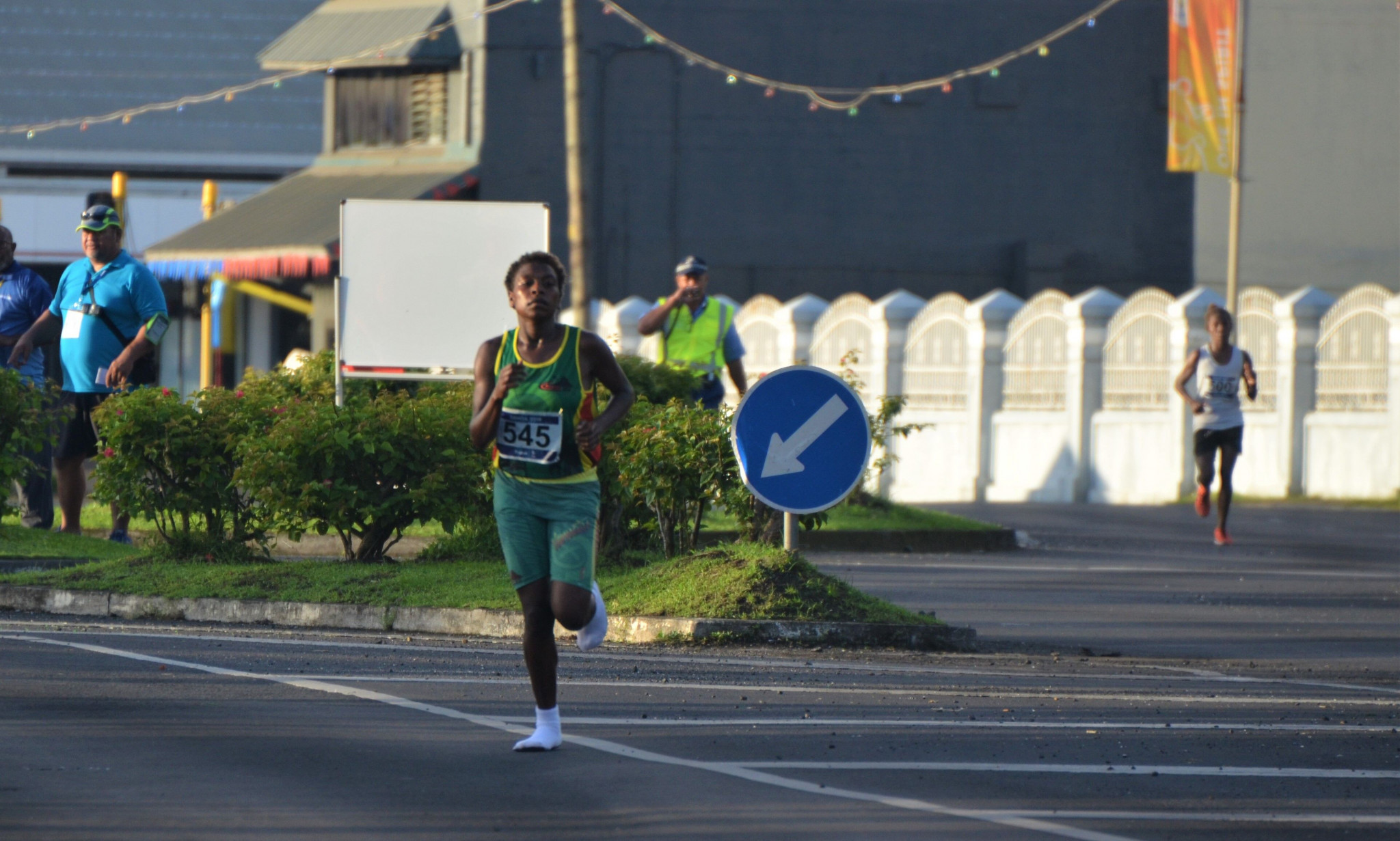 Vanuatu runner socks it to the competition by winning 2019 Pacific Games half marathon without shoes