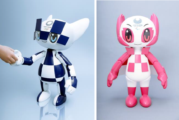 The new models include robots based on Tokyo 2020 mascots Miraitowa and Someity and developed by Toyota Motor Corporation ©Tokyo 2020