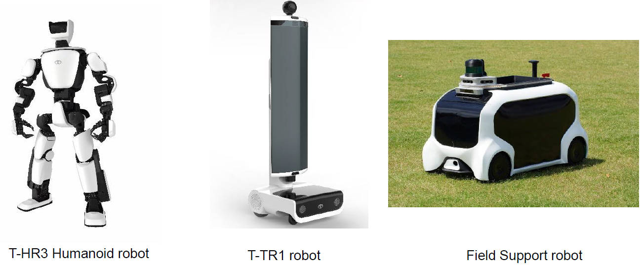 The three other models are the T-HR3 Humanoid robot, the T-TR1 robot and the Field Support robot ©Tokyo 2020