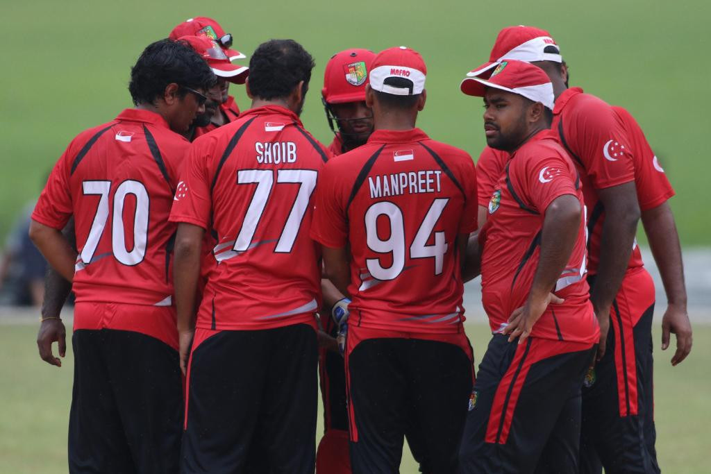 Hosts Singapore beat Qatar by 33 runs on the opening day of the ICC Men's T20 World Cup Asian Regional Finals Qualifier ©ICC/Twitter