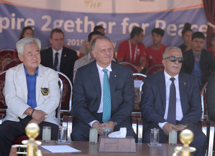 Jordan's Prince Faisal meets with Choue at Taekwondo Humanitarian Foundation