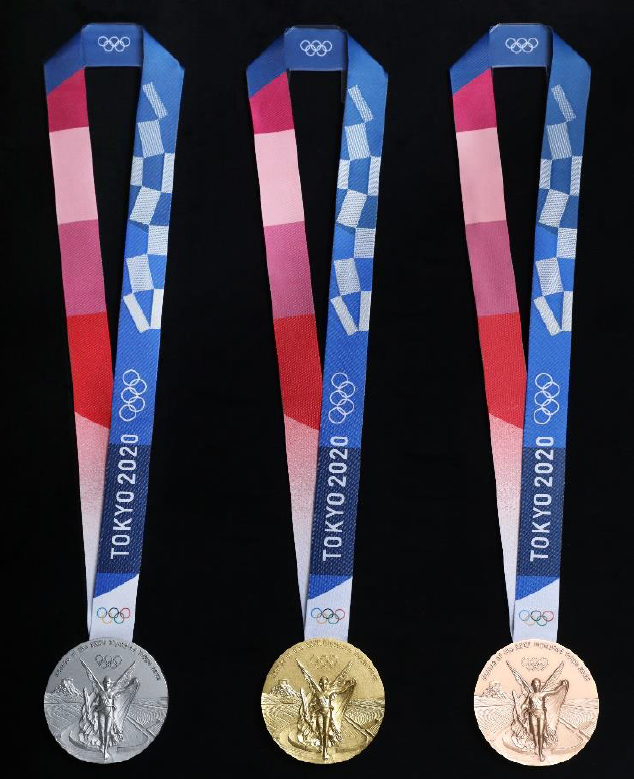 The medals are said to resemble rough stones that have been polished and which now shine ©Tokyo 2020