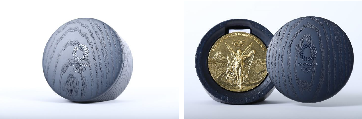 The design of the Tokyo 2020 Olympic medal case is inspired by the Games emblem ©Tokyo 2020