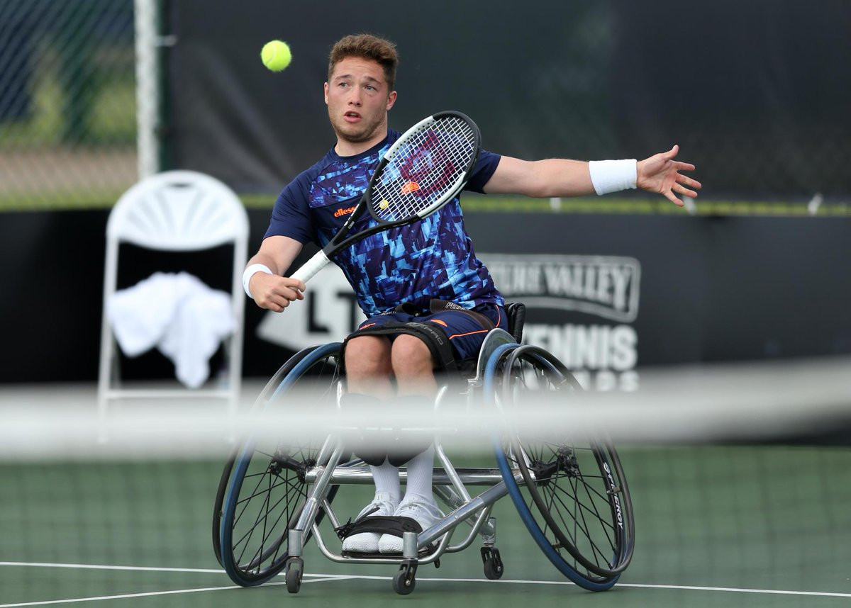 Home player Alfie Hewett was the most notable casualty in the men's singles draw on day two of the British Open Wheelchair Tennis Championships in Nottingham ©Wheelchair Tennis (LTA)/Twitter