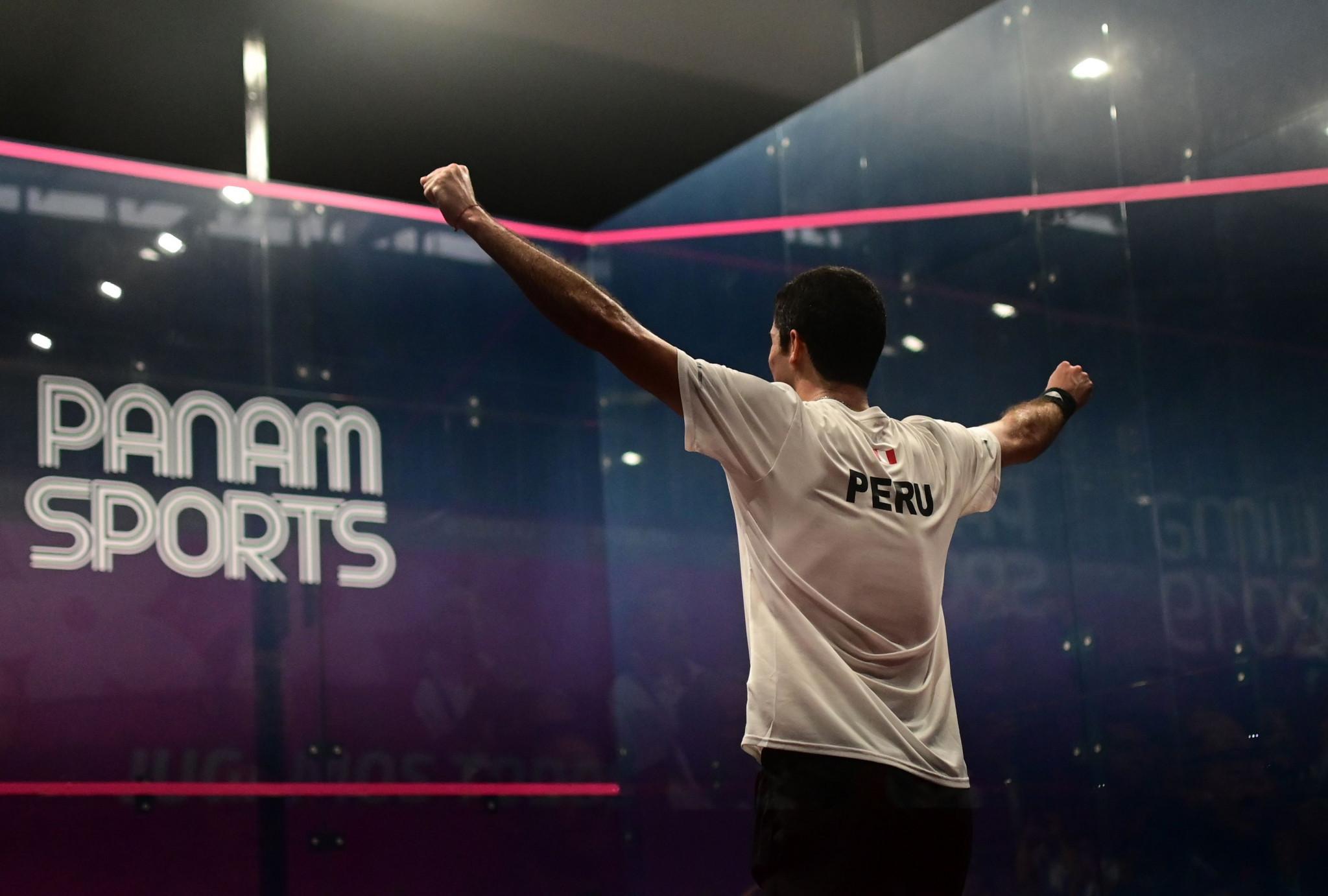 Elías secures revenge to triumph in men's squash competition at Lima 2019
